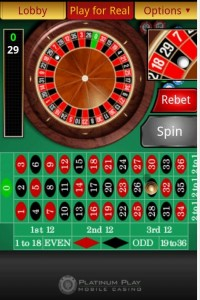 platinum play mobile casino spin 3